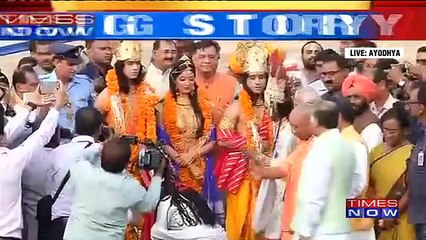 Yogi Adityanath Reaches Ayodhya For Diwali Celebrations%2C Almost 2 Lakh Lamps To Be Lit
