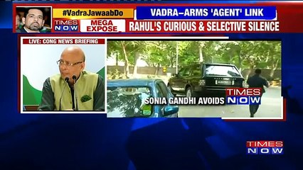 Robert Vadra - Arms Dealer Link- Congress Defends Gandhi Son-in-law Openly
