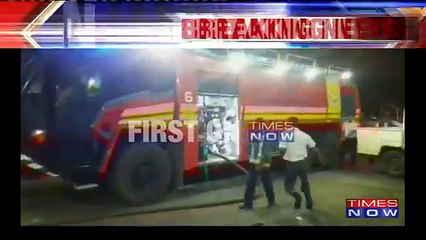 Shocking- Fuel Truck Engulfed In Flames At Kolkata Airport