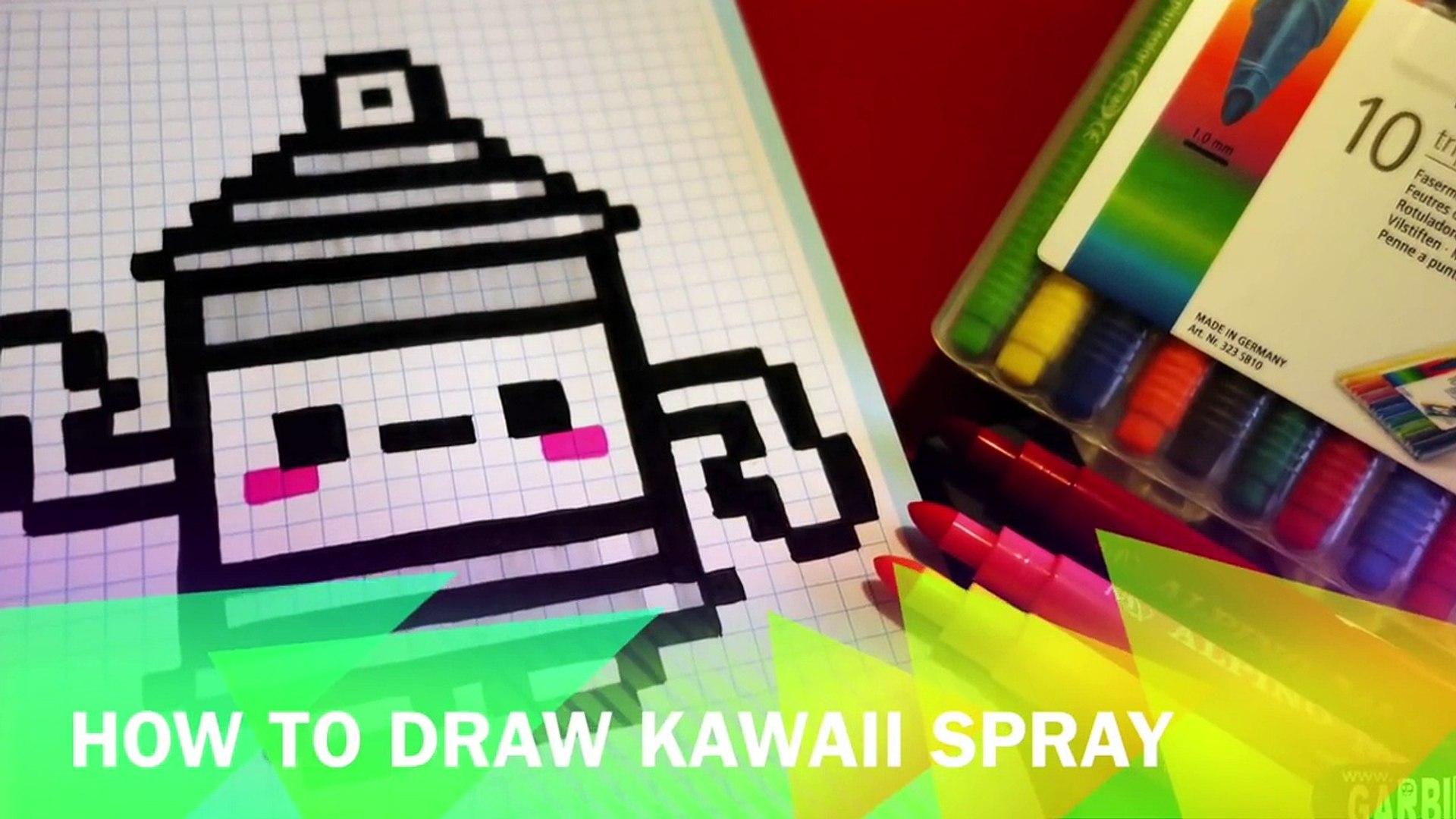 Handmade Pixel Art How To Draw A Kawaii Spray By Garbi Kw Pixelart