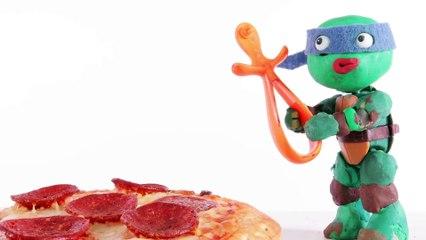 Mouse Trap Catches Donatello Ninja Turtle Stop Motion Superhero Play Doh Animation Videos