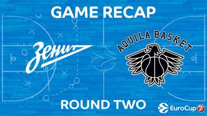 7Days EuroCup Highlights Regular Season, Round 2: Zenit 81-70 Trento