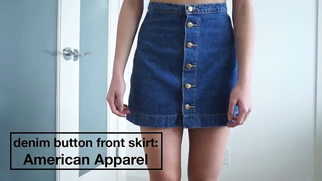 How I Style: Denim Front Button Skirt. http://bit.ly/2Xc4EMY