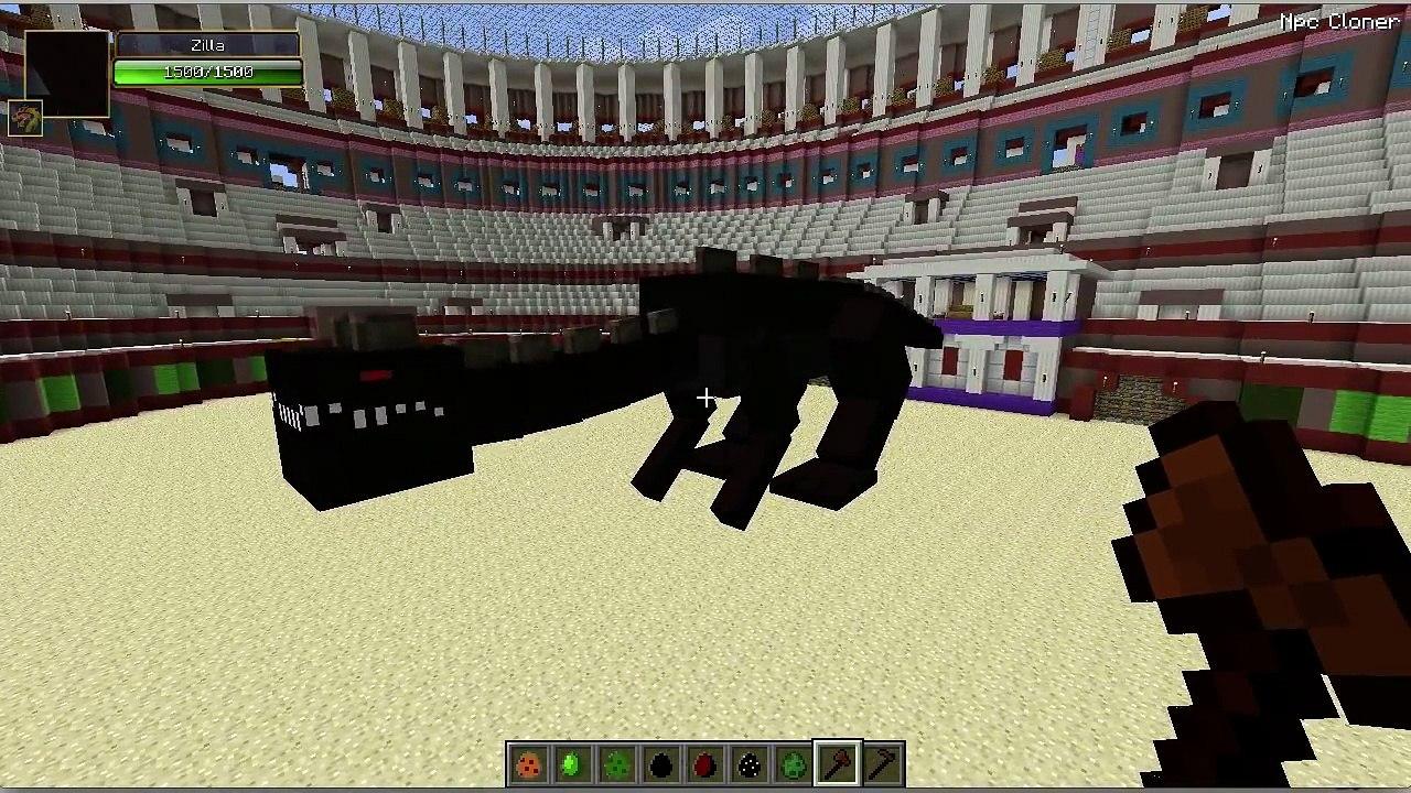 Minecraft Godzilla vs Zilla and a few other mobs