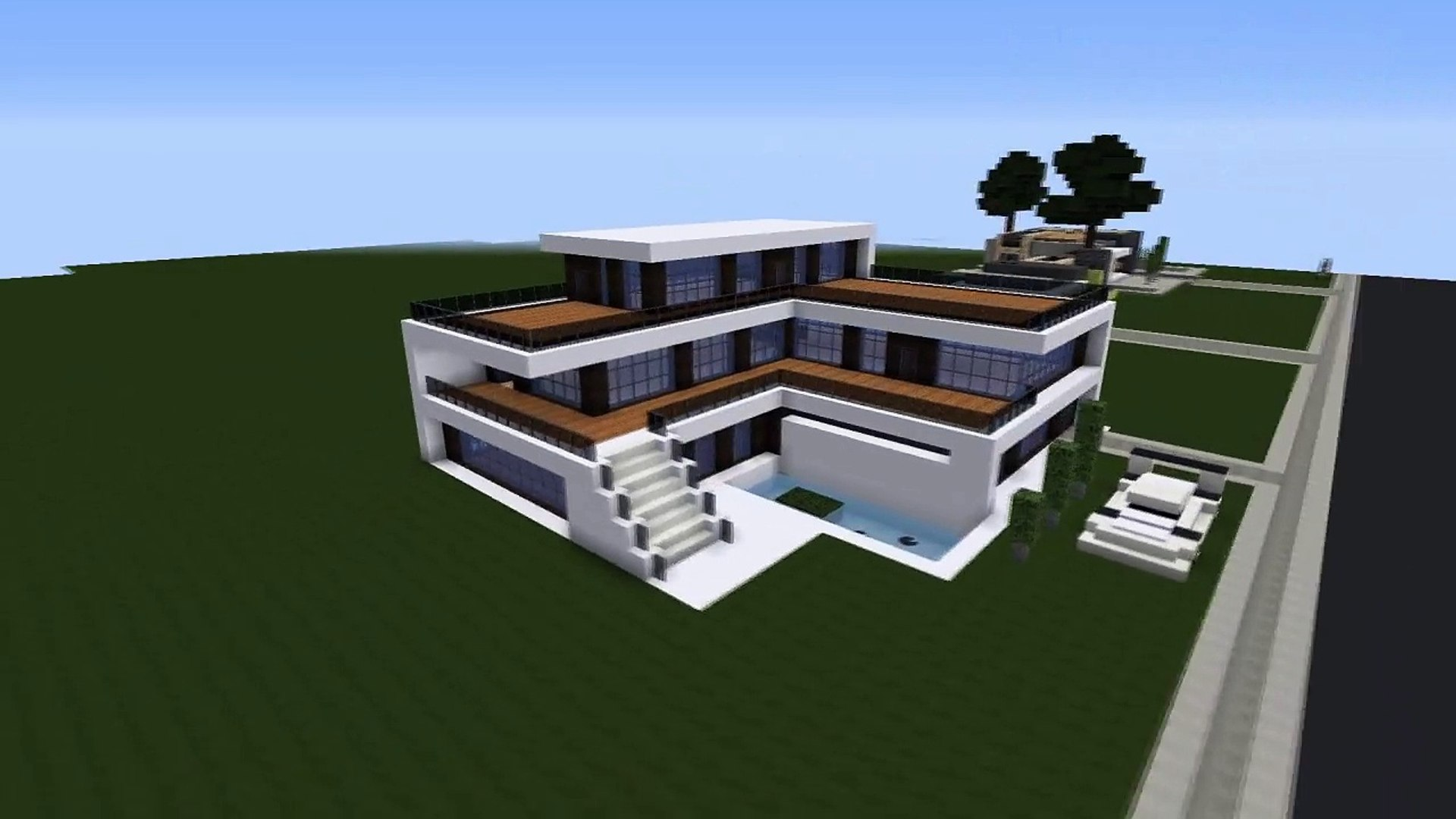 Minecraft Easy Modern House Mansion Tutorial Download 1 8