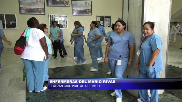Enfermeras del Mario Rivas realizan paro por falta de pago
