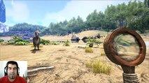 ARK survival Evolved TerrorBird VS Sabertooth Batalla dinosaurios arena español