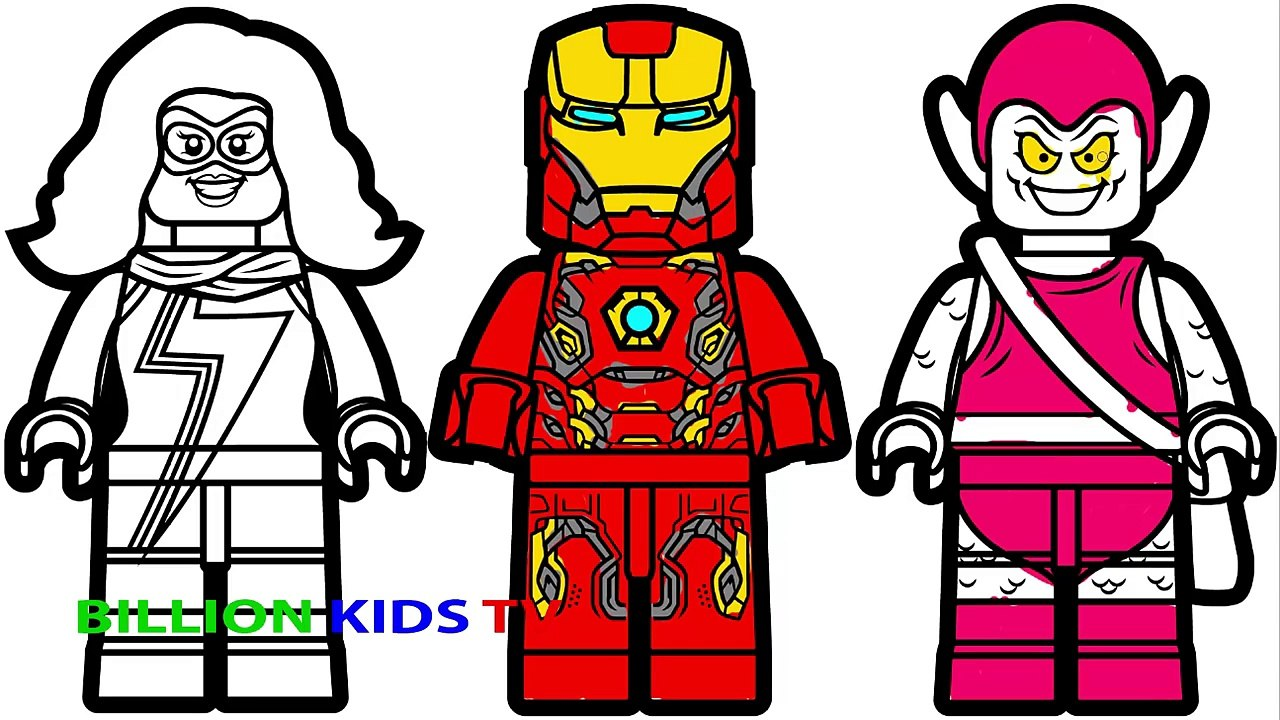 Lego Iron Man Vs Lego Ms Marvel Vs Lego Green Goblin Coloring Book Coloring Pages Kids Fun Art Video Dailymotion
