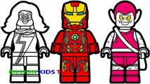 Lego Iron Man vs Lego Ms Marvel vs Lego Green Goblin Coloring Book Coloring Pages Kids Fun Art