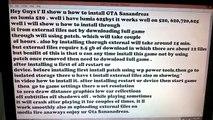 Install Gta Sanandreas on Lumia 540 by external files