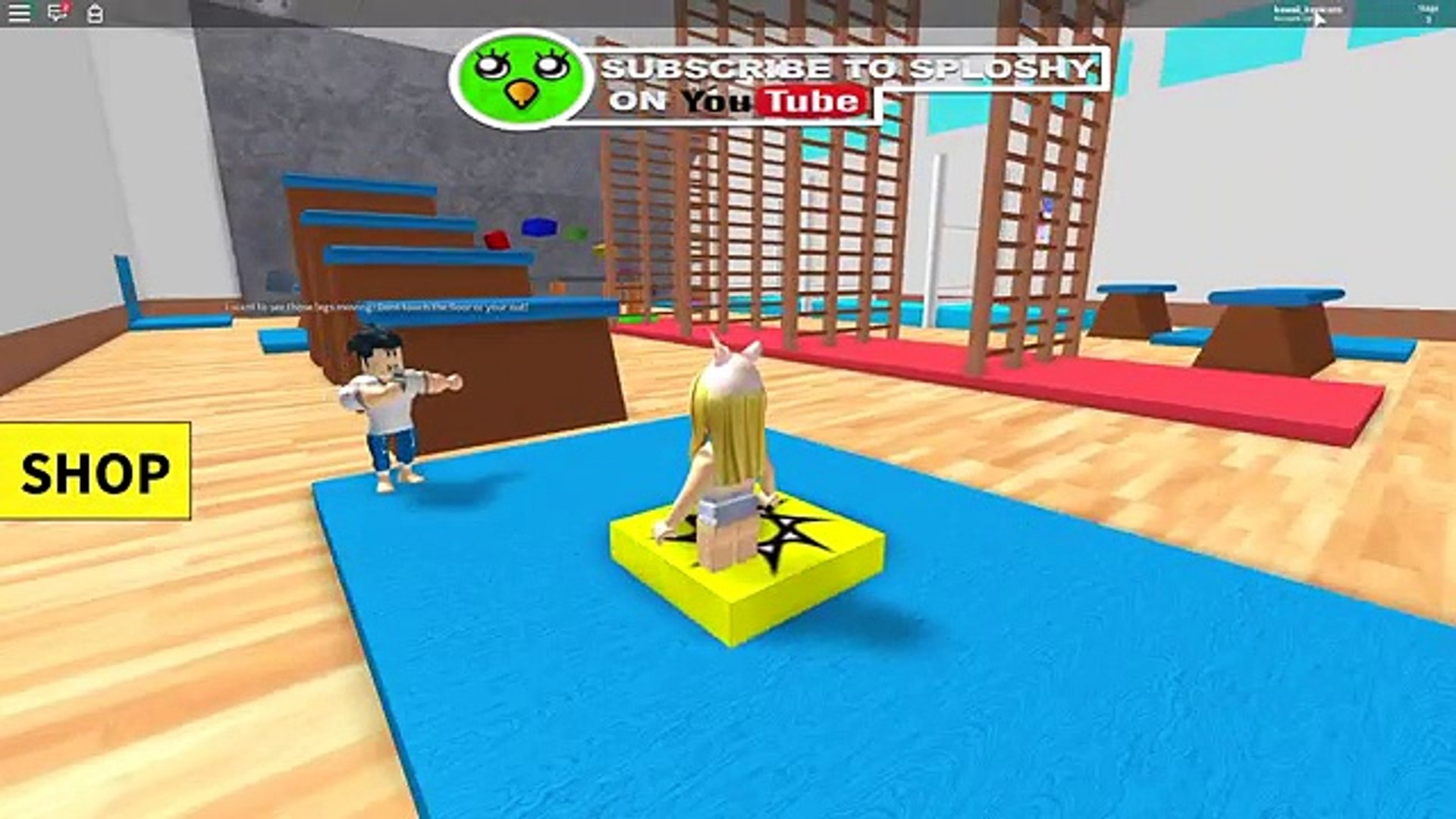 Roblox Escape The Gym Obby Video Dailymotion