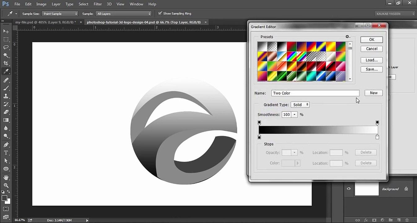 Photoshop Tutorial 3d Logo Design Element 影片 Dailymotion