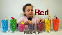 Learn Colors with Skittles and M&M Candy plus Disney Princesses. Magical Candies!