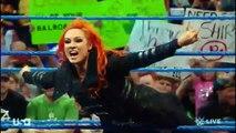 720pHD WWE Smackdown  Eva Marie vs Becky Lynch + Eva Marie fakes an injurie to escape
