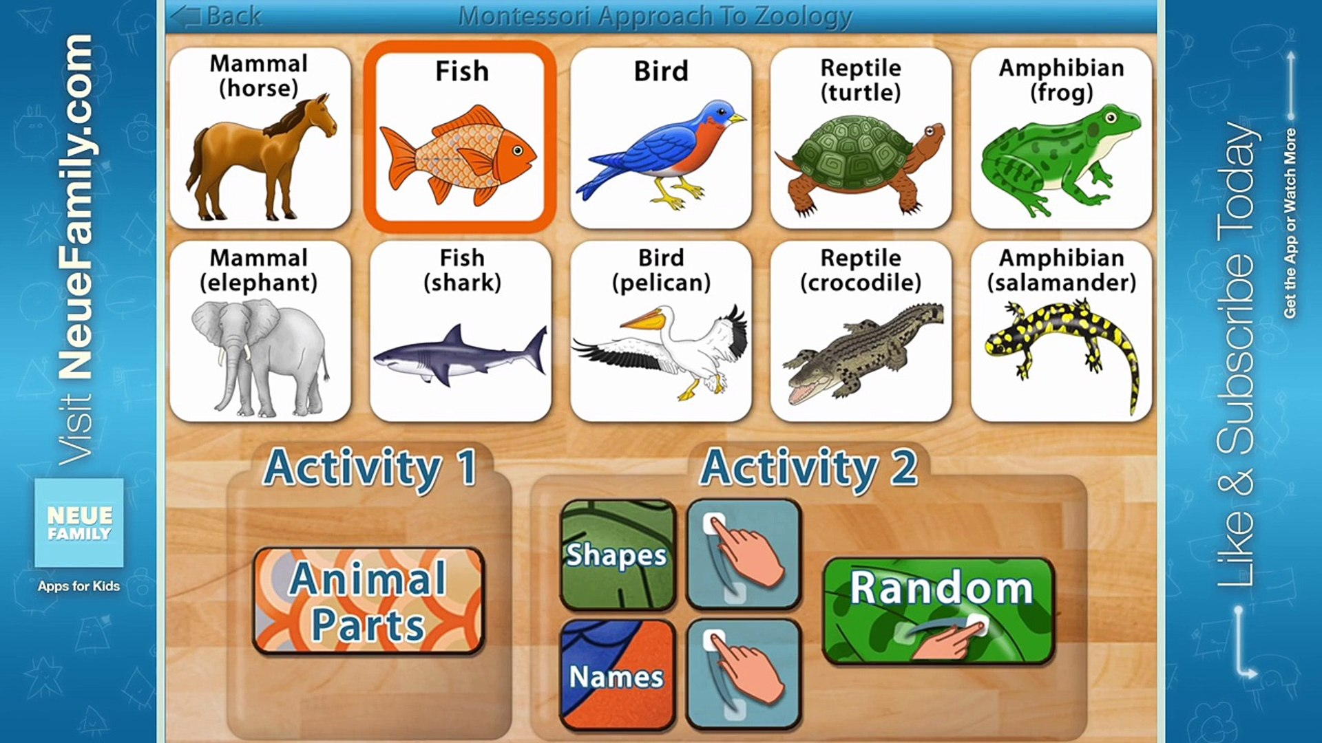 Parts of Animals - A Montessori Approach to Zoology: Kids Education App
