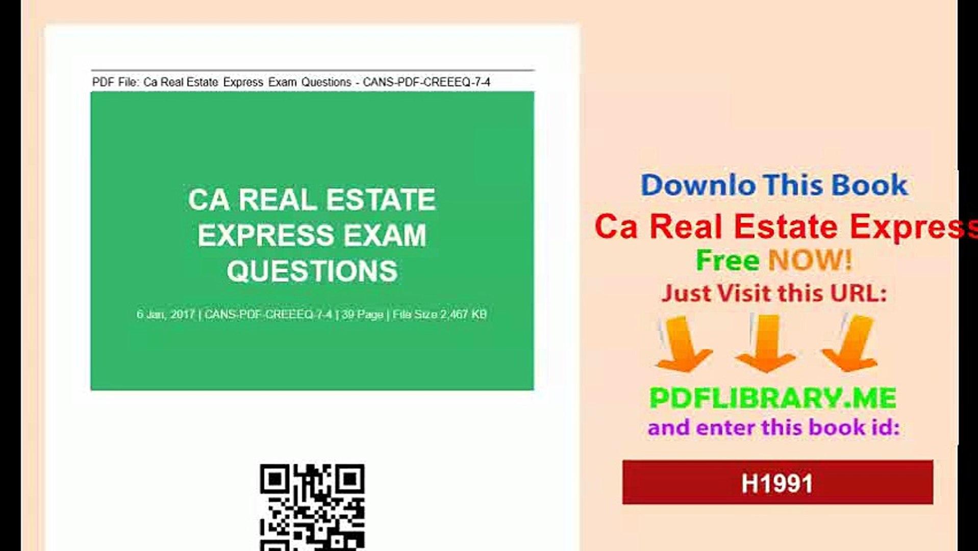 [PDF] Ca Real Estate Express Exam Questionsmp4 [DOWNLO4D]