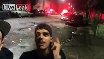 Brazil criminals wannabes joking with cops gets a surprise