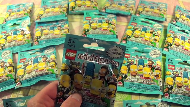 Opening Simpsons Lego Minifigures Blind Bags, Pt. 1 with Talking Bart Simpson! by Bins Toy Bin