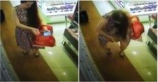 Jovem é apanhada a perfumar-se em supermercado e o momento torna-se viral... percebe porquê!