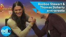 Descendants 2: Booboo Stewart & Thomas Doherty arm-wrestle