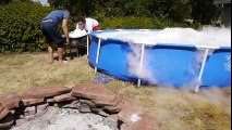 What Happens If You Drop 1,000 Pounds of Dry Ice in a Giant Pool