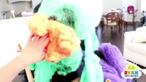 Bad Gorilla Steals Bad Daddy for Halloween! Bad Kid & Bad Mommy prank daddy with Mr bubbles