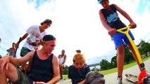 Ivre et défoncé à la beuh à seulement 8 ans dans un skatepark !
