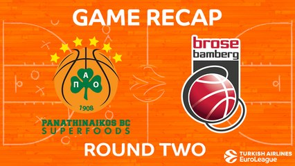 EuroLeague 2017-18 Highlights Regular Season Round 2 video: Panathinaikos 93-83 Bamberg
