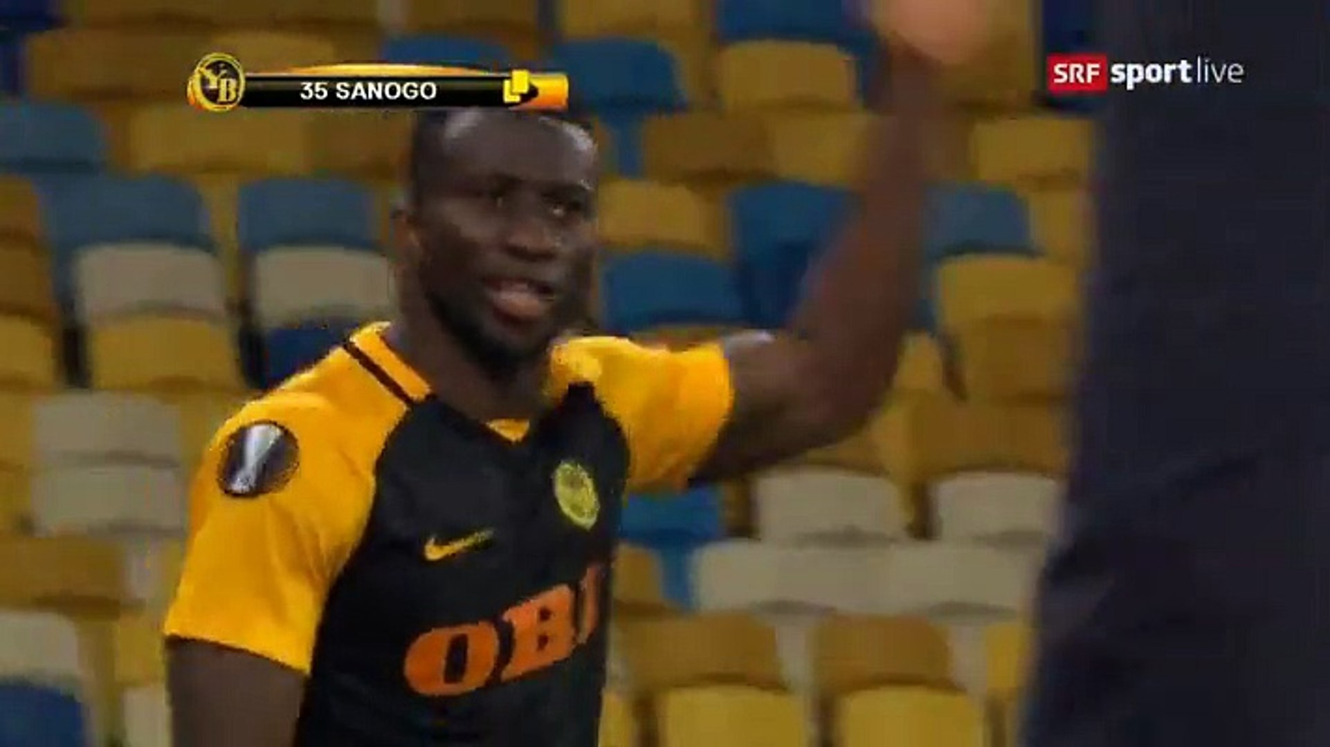 Sekou Sanogo Junior Red Card HD - Dyn. Kiev	2-2	Young Boys 19.10.2017