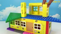 Peppa Pig Blocks Mega House LEGO Creations Sets With Masha And The Bear Legos Toys For Kids #7