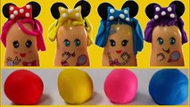 Learn Colors Play Doh Finger Face Mickey Mouse Hair Cut Fun Creative For Kids