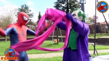 Spiderman FLAT PINK SPIDERGIRL! Superheroes in real life Joker and Spider-man Spidergirl IRL