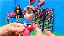 Monster High Dead Tired Cleo & Frankie Dolls Unboxing Toy Review + Clawdeen Draculaura & Ghoulia