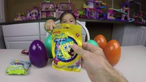 SURPRISE EGGS MATCHING CHALLENGE GAME Surprise Toys SpongeBob Minions + Learn Colors + Kid-Friendly