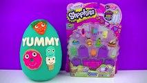 GIANT Kidrobot Yummy Play Doh Surprise Egg ,  Yummy Dessert Yummy Breakfast Shopkins 12 Pack