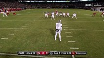 Oakland Raiders punter Marquette King brings an abrupt end to Kansas City Chiefs wide receiver Tyreek Hill's interesting punt return