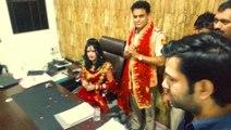 Radhe Maa Latest News Vivek Vihar SHO Sanjay Sharma Suspends After Offered His Chair To Radhe Maa