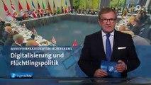 SCHWERPUNKT: Flüchtlingspolitik und Digitalisierung - Treffen der Länderchefs   Tagesschau24