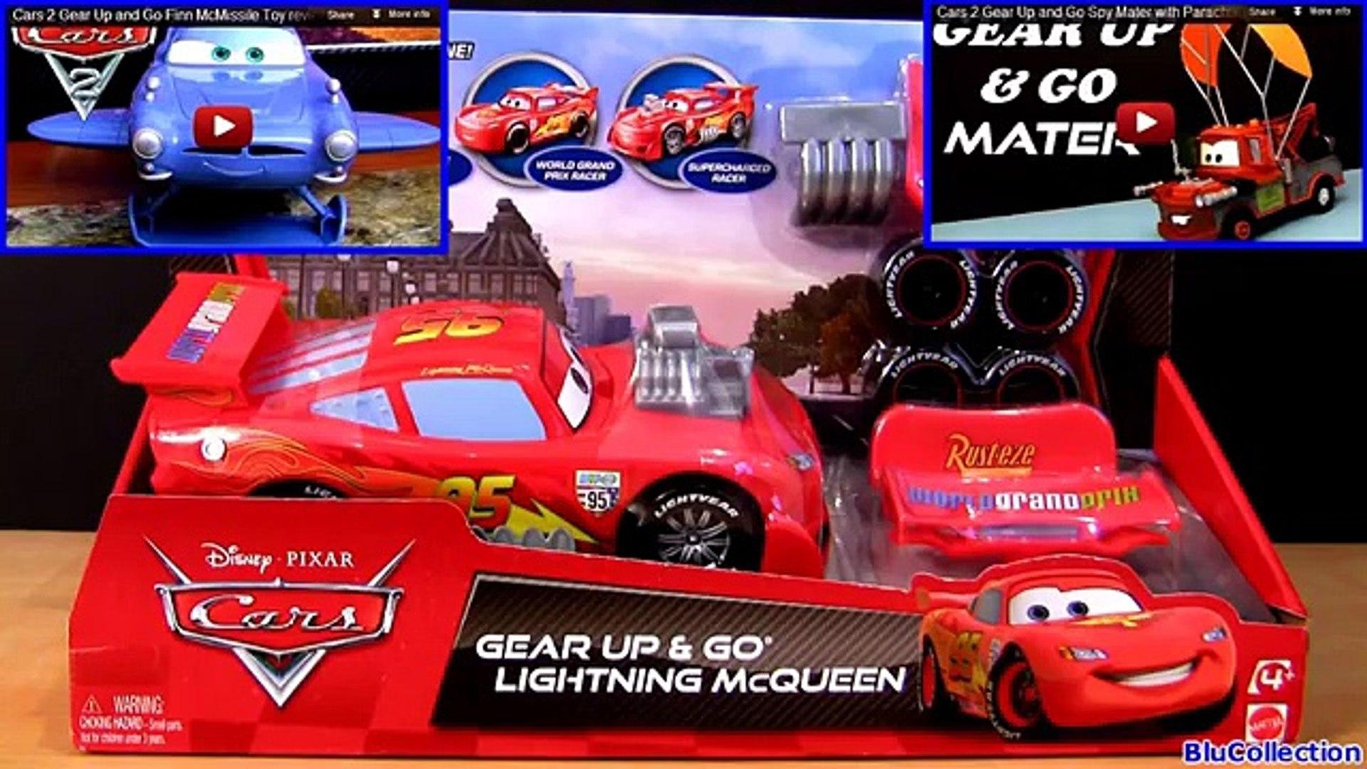Carrinho Relampago Mcqueen Gear Up N Go Disney Pixar Cars 2 Flash