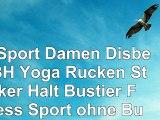 BH Sport Damen Disbest BH Yoga Rücken Starker Halt Bustier Fitness Sport ohne Bügel 38