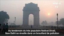 Inde: Delhi enveloppé par la pollution après le festival Divali