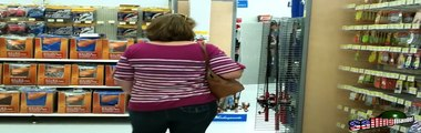walmarts fishing section(wife looking for a River Monsters fishing pole)