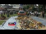 Polres Bogor Musnahkan Ratusan Kg Daun Ganja Kering dan Ribuan Botol Miras -NET17