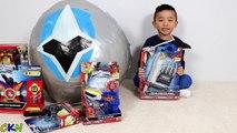 Power Rangers Ninja Steel BIGGEST Toys Surprise Egg Opening Fun Shuriken Sentai Ninninger Ckn Toys