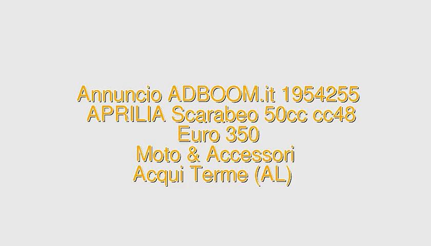 APRILIA Scarabeo 50cc cc48