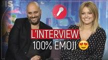 Caroline Receveur et Jérôme Commandeur (Le monde secret des Emojis) : l'interview 100% Emoji !