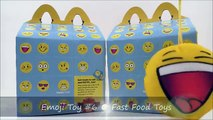 2016 McDONALDS EMOJI PLUSH SMILIES COMPLETE SET 16 HAPPY MEAL TOYS SMILEY SMILES COLLECTION REVIEW