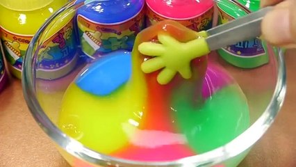 DIY Combine All the Colors Baby Bottle Slime Learn Colors Slime Orbeez