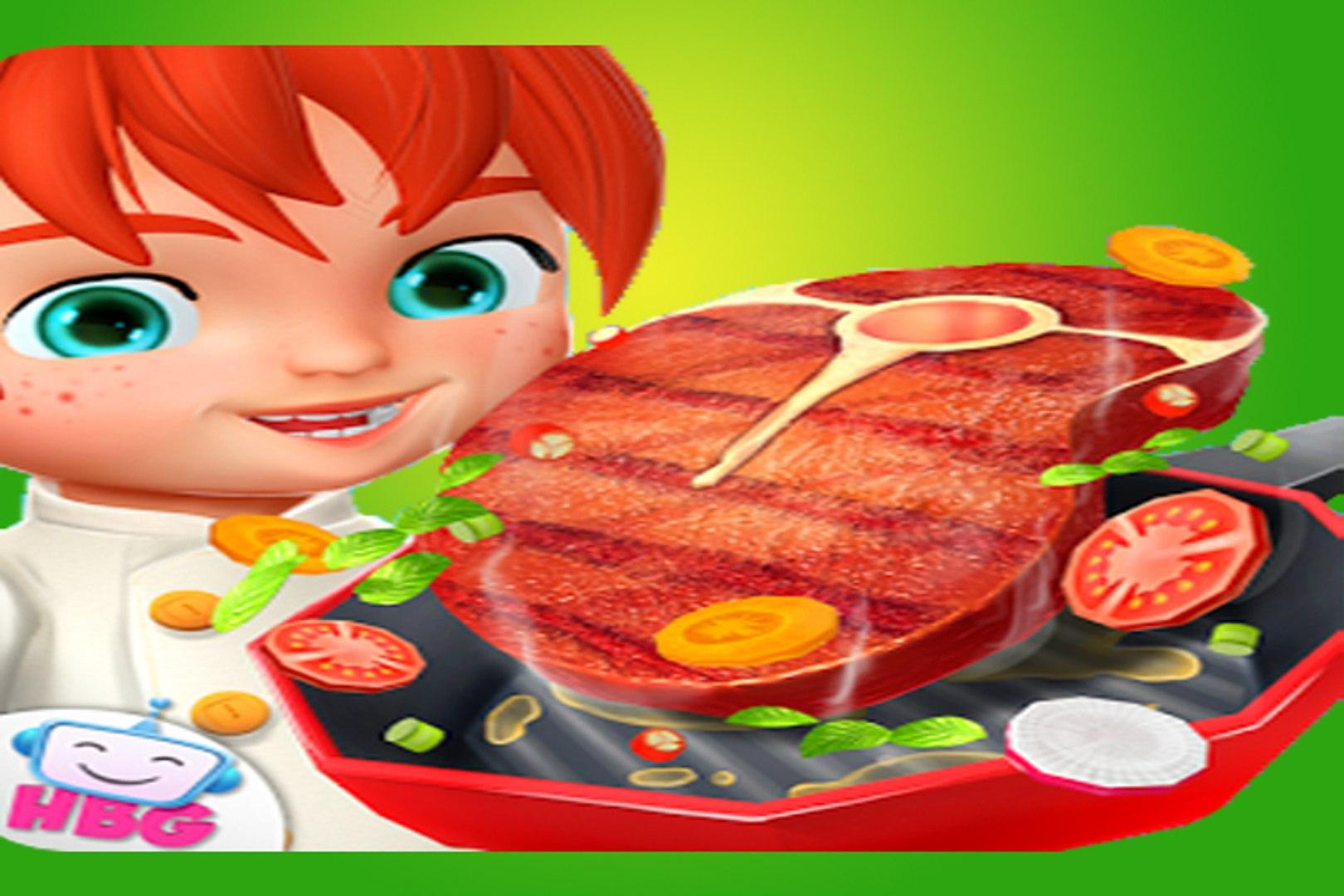 Kids Cartoons adventure - education for childrens - Crazy Cooking Steak Maker 3D - Video for kids