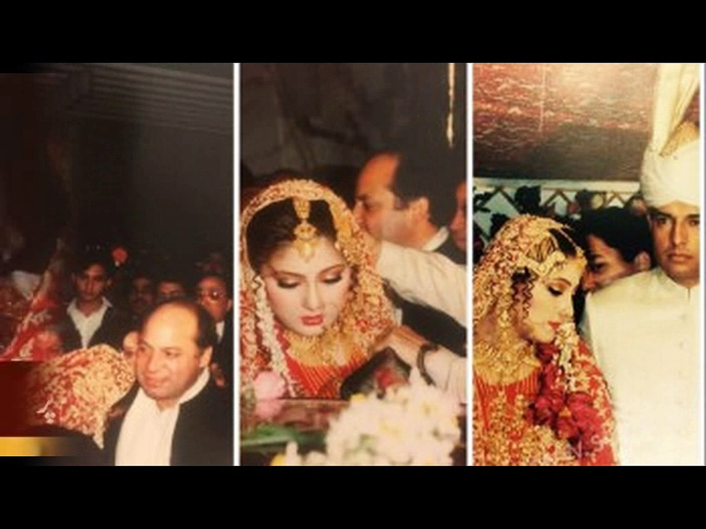 Hot and Sexy Maryam Nawaz Sharif Wedding Pictures with Captain Safdar